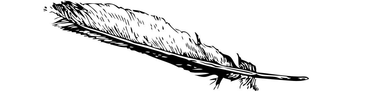 "Feather illustration - ""Premium Tears"" microfiction"