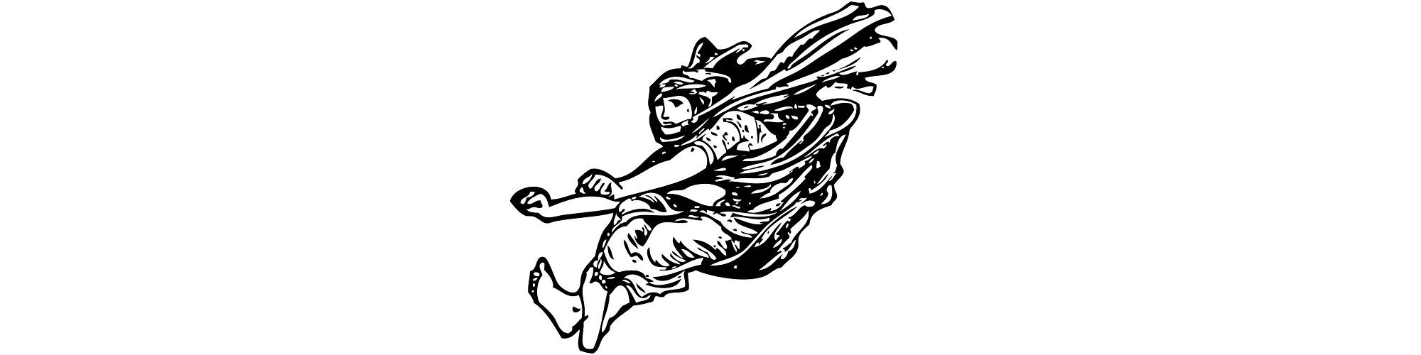"Illustration of man jumping - ""The Big Jump"" flash fiction"