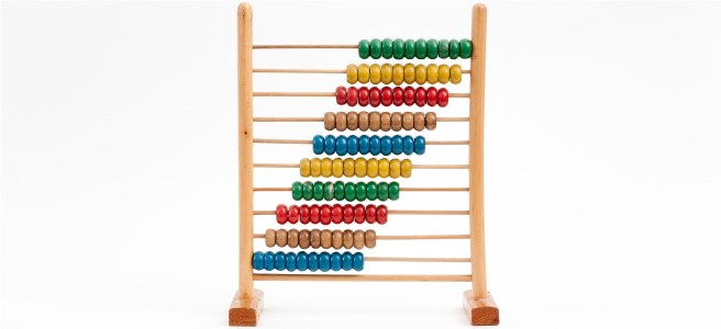 Multicoloured abacus