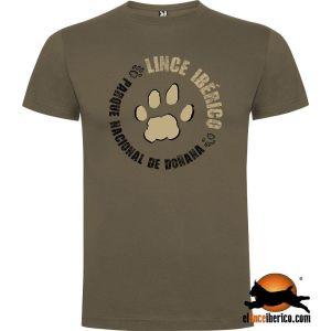 Huella lince ibérico camiseta Doñana