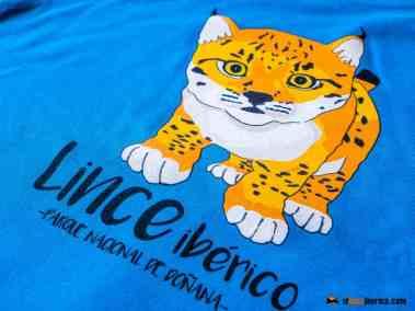 Camiseta cachorro lince ibérico 1 mes azul