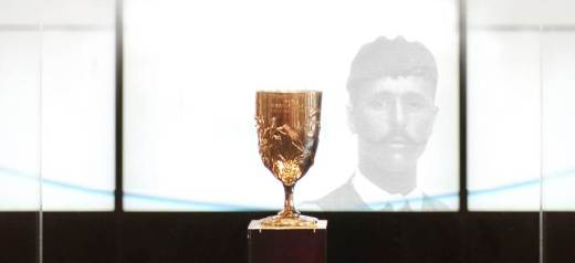 Spyros Louis' Silver Cup will be exhibited at the Olympic Museum in Lausanne