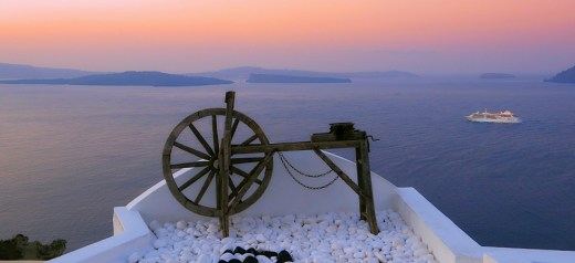 Santorini was voted the most beautiful island in Europe for 2015