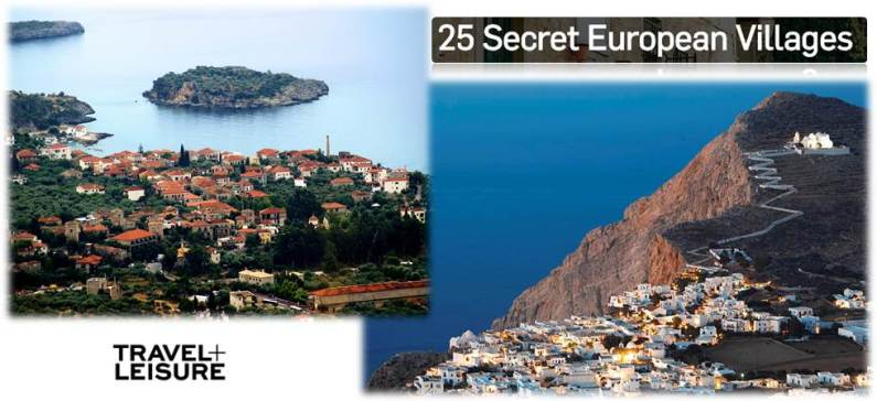 Folegandros and Kardamili at the top 25 secret European villages