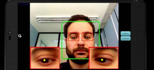 He developed an Android app that types with the eyes