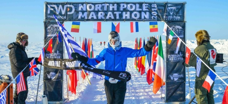 Argyris Papathanasopoulos the Greek who won the North Pole Marathon
