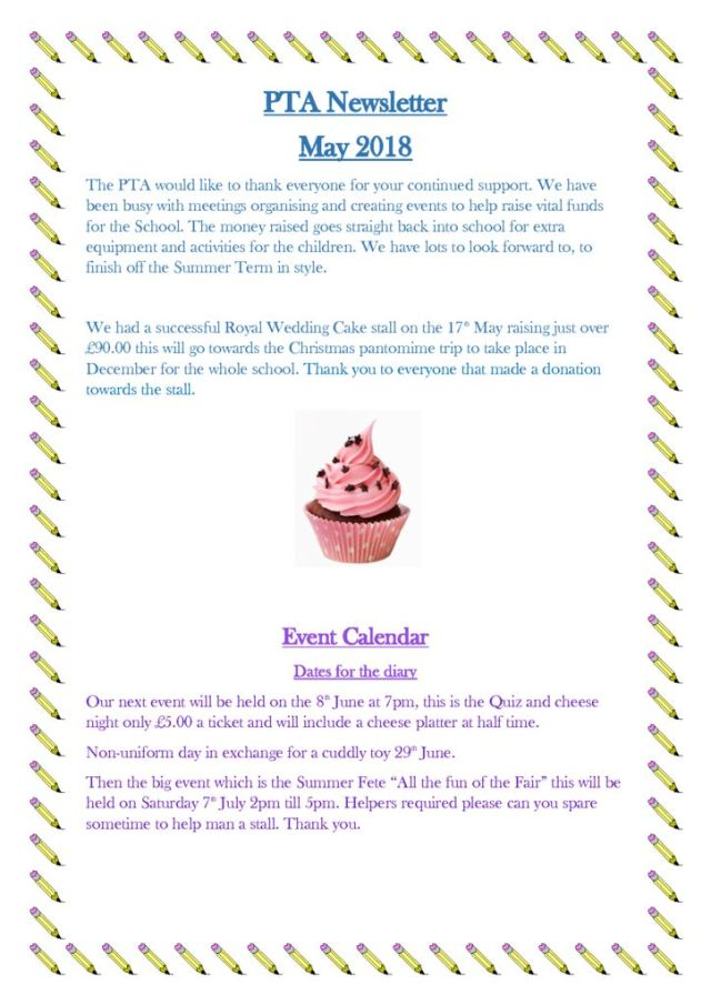 thumbnail of PTA Newsletter May 18