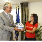 Συνάντηση με τον κ. Κουβέλη και τη μαθήτρια Βίκυ Γεωργακοπούλου.