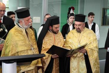 Πρωτοπρεσβύτερος Απόστολος Μαλαμούσης, Αρχιμανδρίτης Τίτος Γιαννούλης και ο ρουμάνος Πρωτοπρεσβύτερος Δρ. Κωνσταντίνος Σπορέα