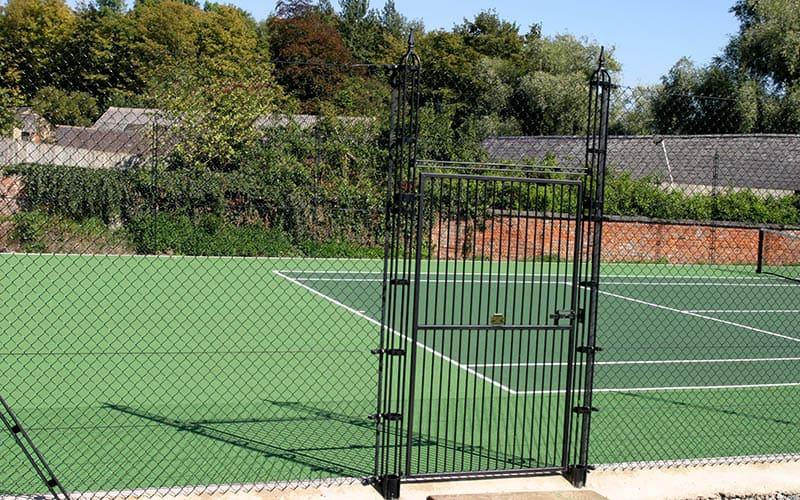 Elliott Courts - stylish gate with obelisk fencing.
