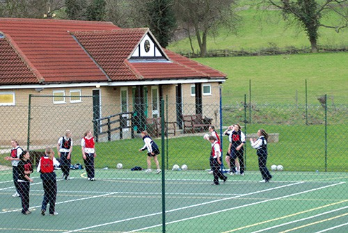 Netball on a multi use games areas by Elliott Tennis Courts - EnTC