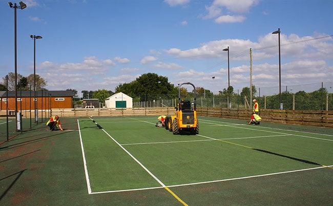 Tennis court construction - Elliott Courts - EnTC