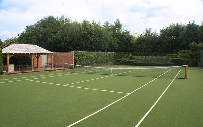 Savanna tennis court surface bt Elliotts - part of the En Tout Was group - tennis court construction.