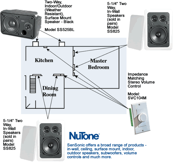 whole house audio system diagram broan/nutone  electrical