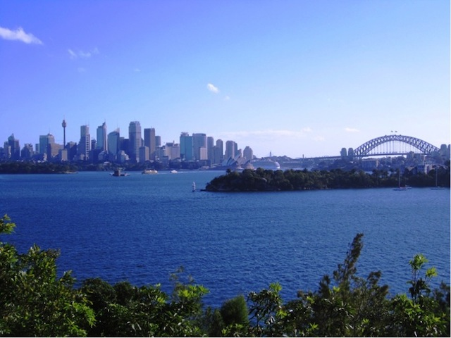 View from the Taronga Zoo grounds.