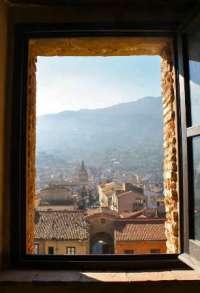 A Sicilian mountain town.