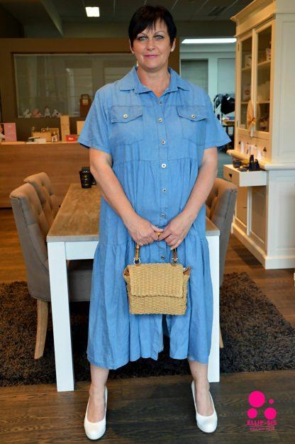 Lichtblauw jeans kleedje