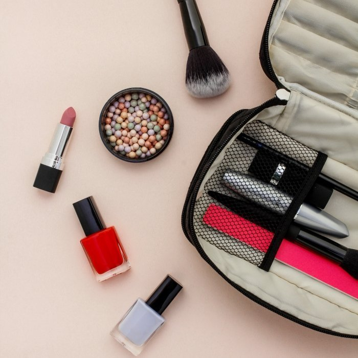 Black Jewelry & Makeup Bag