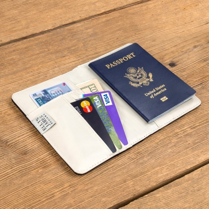 Black Travel Passport Keeper