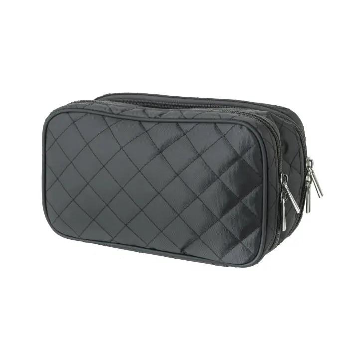 Grey Jewelry & Makeup Bag