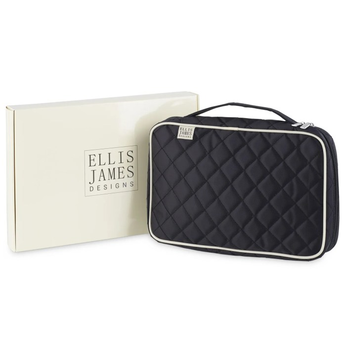 Makeup Brush Bag by Ellis James Designs with Gift Packaging