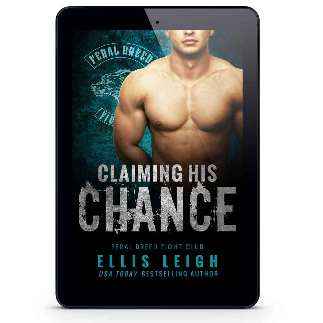 Claiming His Chance cover on display in ereader