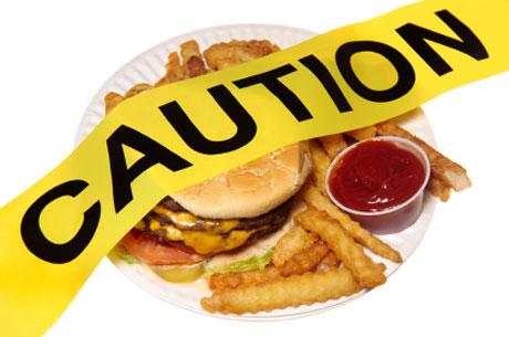 caution: junk food