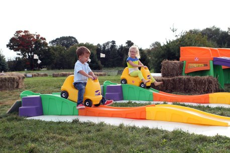 Rollercoasters for kids at Ellms Family Farm - enjoy kids activities galore!