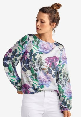 Image result for blouson sleeve satin blouse ellos
