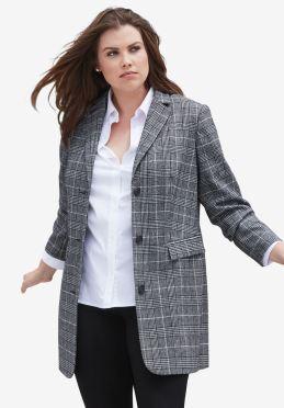 Image result for long wool blend blazer ellos
