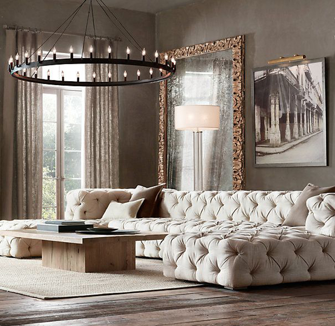 soho upholstered sofa restoration hardware www.caribbealivingblog.com