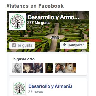 Facebook Desarrollo y Armonía