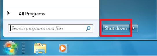 Image result for shutdown windows 7
