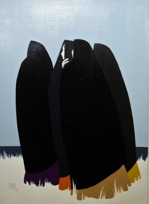 De las Casas Manuel, Mujeres junto al mar, pintura oleo sobre cartulina, 69,50×50 cms. (2)