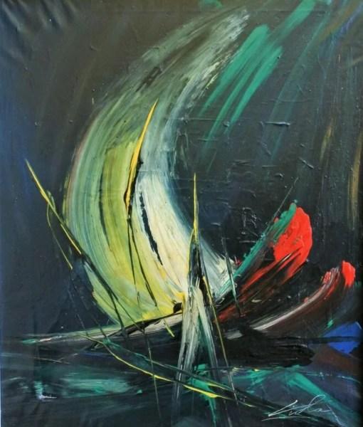 Viola Manuel, Velero, pintura oleo lienzo, enmarcado, pintura 55×46 cms. y marco 63×54 cms. (6)