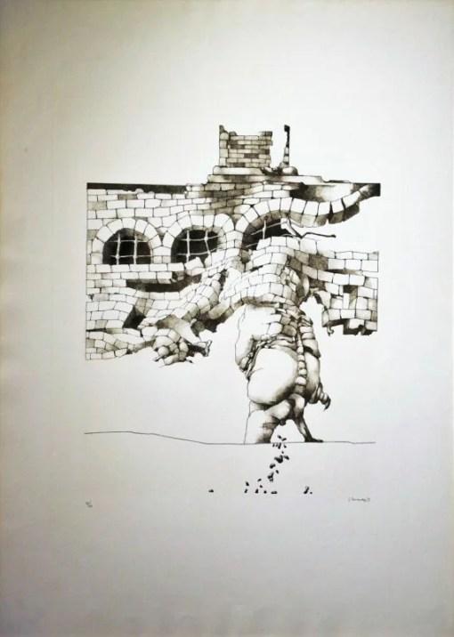 Hernandez José 1971, Opera I, litografia, edición 60 ejemplares, numerada datada y firmada a lápiz, 77×55 ejemplares (11)