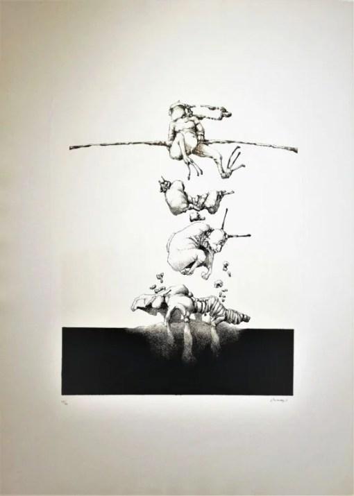 Hernandez José 1971, Opera IV, litografia, edición 60 ejemplares, numerada datada y firmada a lápiz, 77×55 ejemplares (17)