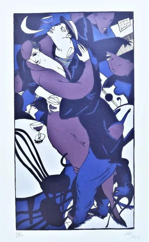 Ana Juan, Pareja de baile, serigrafía, edición 80 ejemplares, numerado y firmado a lápiz, 97×60,50 cms. (8)