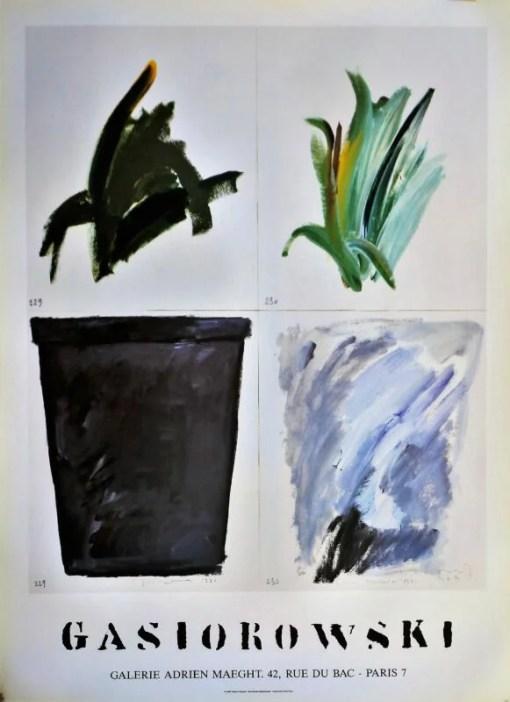 Gasiorowski Gèrard, Pot de Fleurs 229-230, cartel original editado por la Galerie Adrien Maeght Paris, 74×54 cms (12)