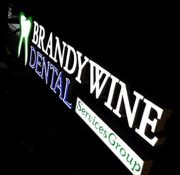 Channel Letters Sign for Brandywine Dental of Glen Mills PA