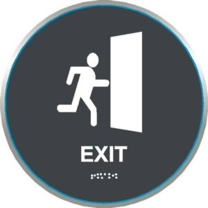 ADA Exit Sign in California Collection
