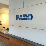 Acrylic dimensional letters for Faro Reception sign in Exton, PA