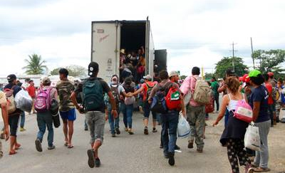 Image result for camiones soriana migrantes