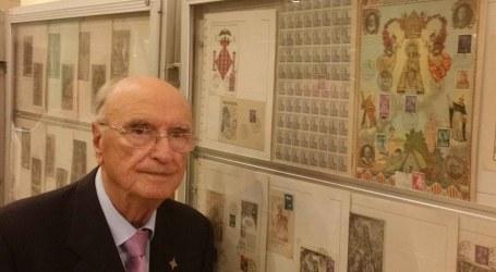 Antonio Benet presenta una exposición de sellos única sobre la Virgen de los Desamparados en Paterna