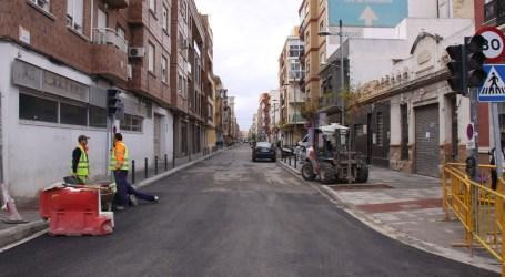 Torrent ultima los trabajos de remodelación de la calle Valencia