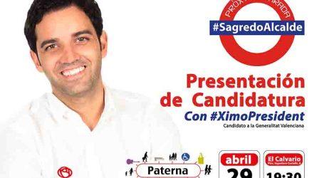 Sagredo presenta el miércoles su candidatura para sacar a Paterna de la parálisis