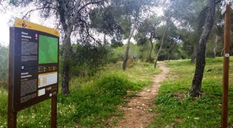 Paterna y Dirección del Parque Natural instalan la primera ruta señalizada del bosque de La Vallesa