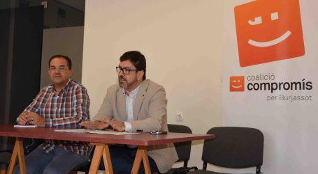Compromís Burjassot lamenta l'actitud de l'alcalde «posicionant-se en contra de la transparència»