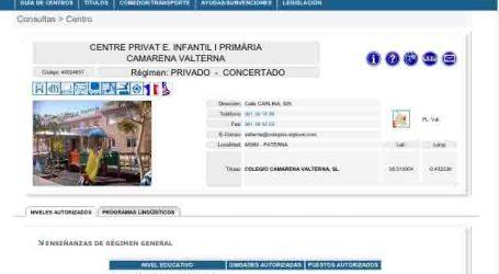 Sagredo denuncia el concierto educativo de un colegio privado de Paterna fuera del plazo de matriculación