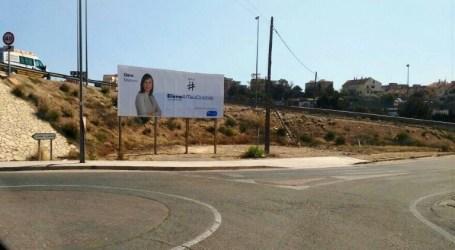 Una valla electoral de Paterna, ilegal para el PSPV y legal para el PP